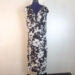 Lauren Ralph Lauren Brown and White Floral Dress